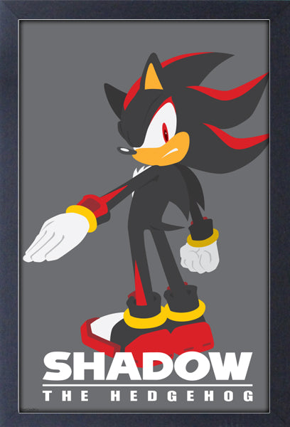 Sonic Modern Character Shadow Framed Gelcoat