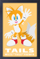 Sonic - Modern Character - Tails Framed Gelcoat