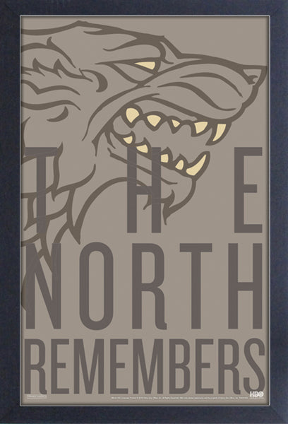 Game of Thrones - The North Remembers Framed Gelcoat