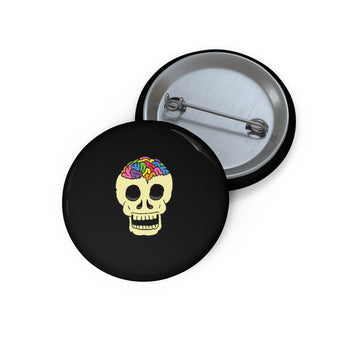 RAINBOW BRAINSKULL Button