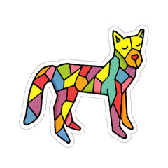 Polygon Fox (Kiss-Cut Sticker)