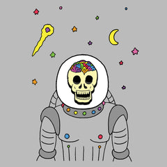 Rainbow Brainskull Spacesuit (Soft Lightweight T-shirt)
