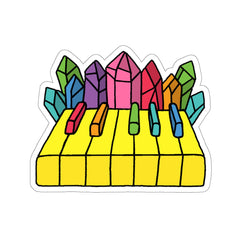 Crystal Piano (Kiss-Cut Sticker)