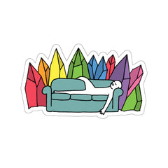 Crystal Couch (Kiss-Cut Sticker)