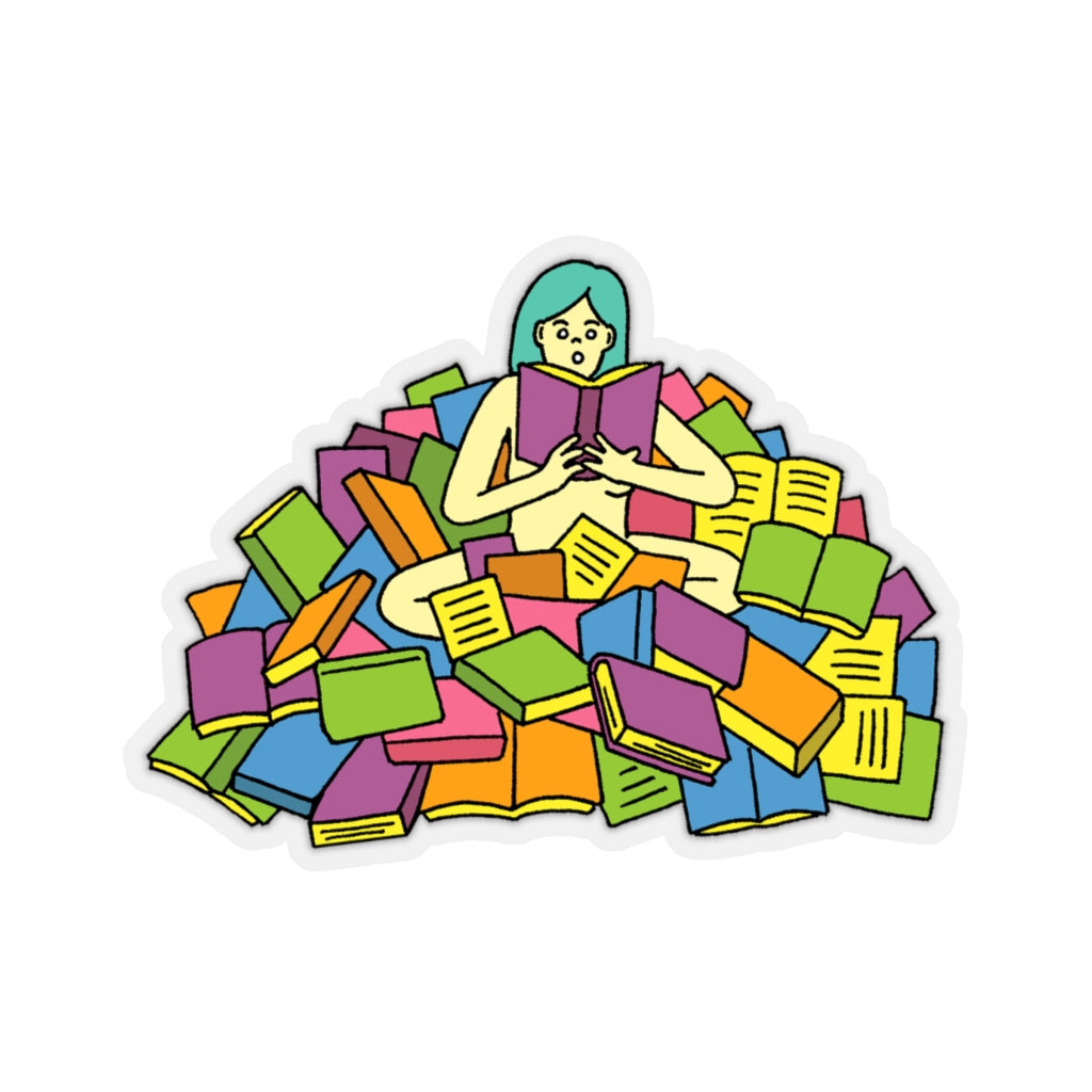 Bookworm (Kiss-Cut Sticker)
