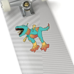 Robot Dinosaur (Kiss-Cut Sticker)