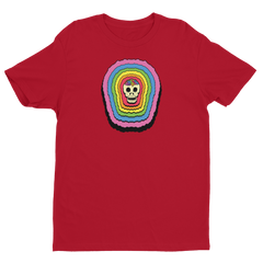 Rainbow Brainskull Radiate (Soft Lightweight T-shirt)