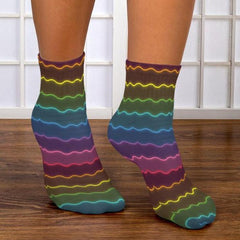 Neon Glow Ankle Socks