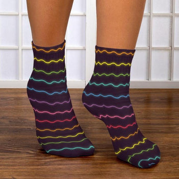 Neon Vibration Ankle Socks