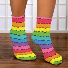 Rainbow Vibration Ankle Socks
