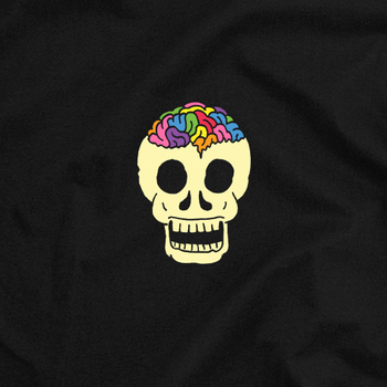 Rainbow Brainskull T-Shirt (Black)