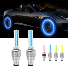 Load image into Gallery viewer, Car Wheel LED Light Motorcycle Bike Light Tire Valve Cap Flash Spoke Neon Lamp