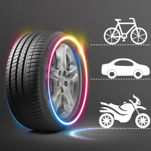 Car Wheel LED Light Motorcycle Bike Light Tire Valve Cap Flash Spoke Neon Lamp