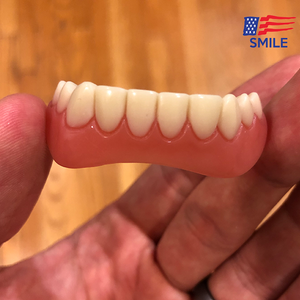 Perfect Smiile & White Teeth - Upper & Lower Clip/Snap On Veneers for Perfect Teeth