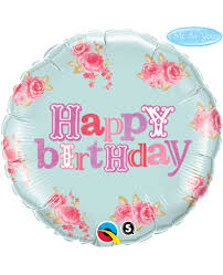 GLOBO FOIL OSITO HAPPY BIRTHDAY / 46 CM