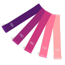 Load image into Gallery viewer, Pink Women's Yoga Resistance Bands (x5) | Movement Performance