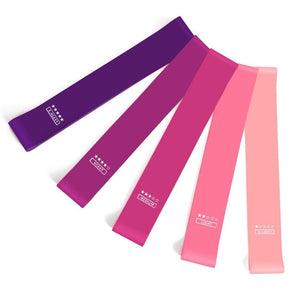 Pink Women's Yoga Resistance Bands (x5) | Movement Performance