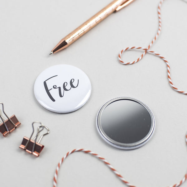 Free Pocket Mirror Free Magnet by Ginger Twenty Two
