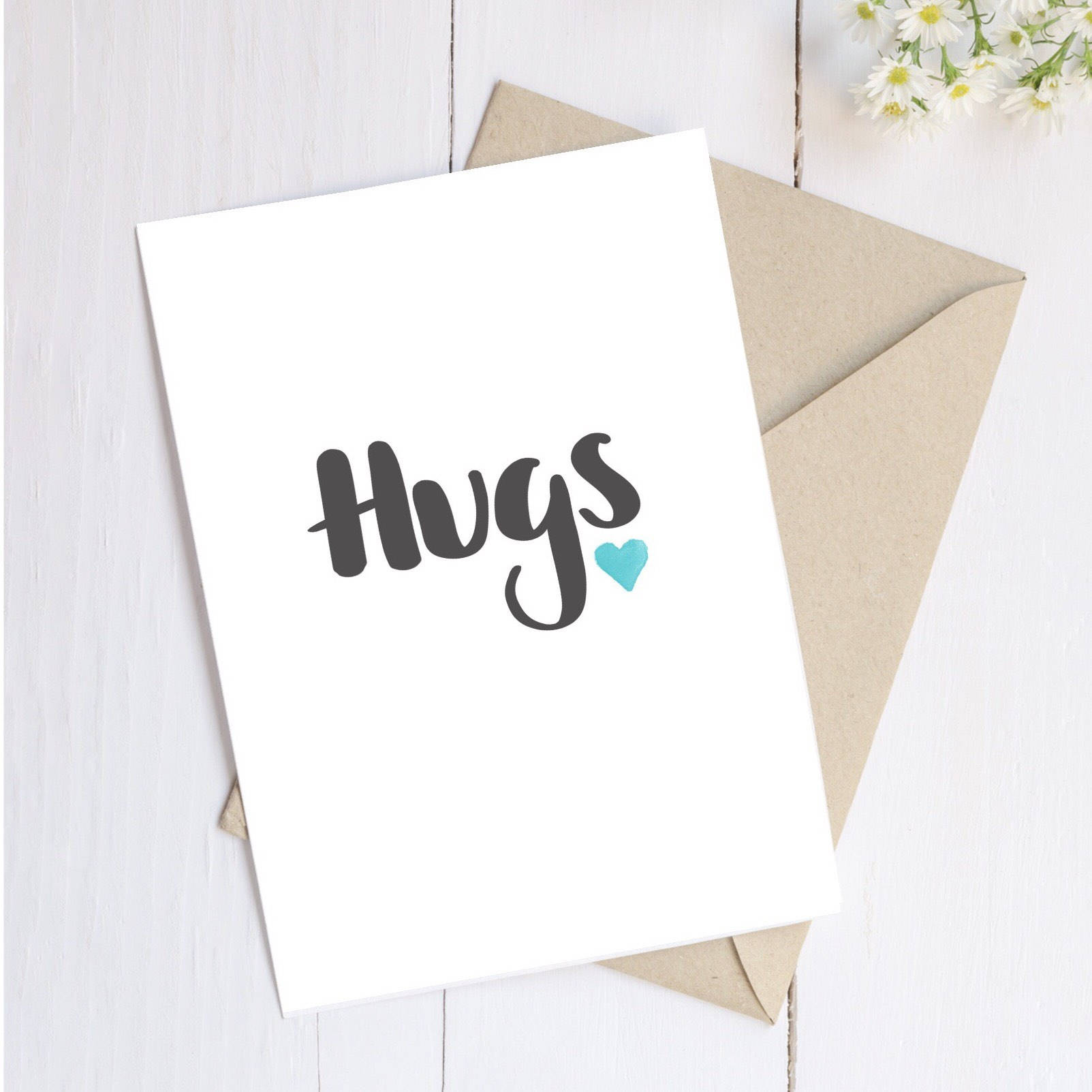 Hugs Card by Ginger Twenty Two
