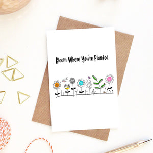 Bloom Where You're Planted Postcard