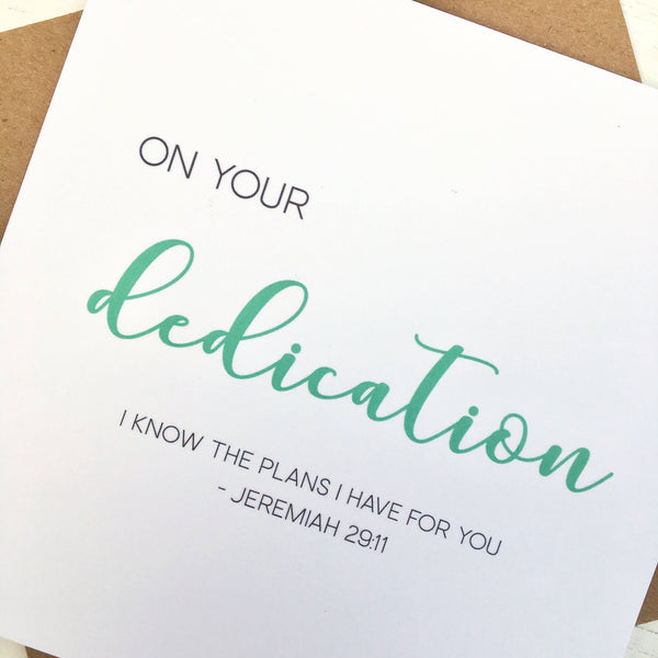 Dedication Card by Ginger Twenty Two