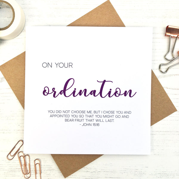 Ordination Card by Ginger Twenty Two