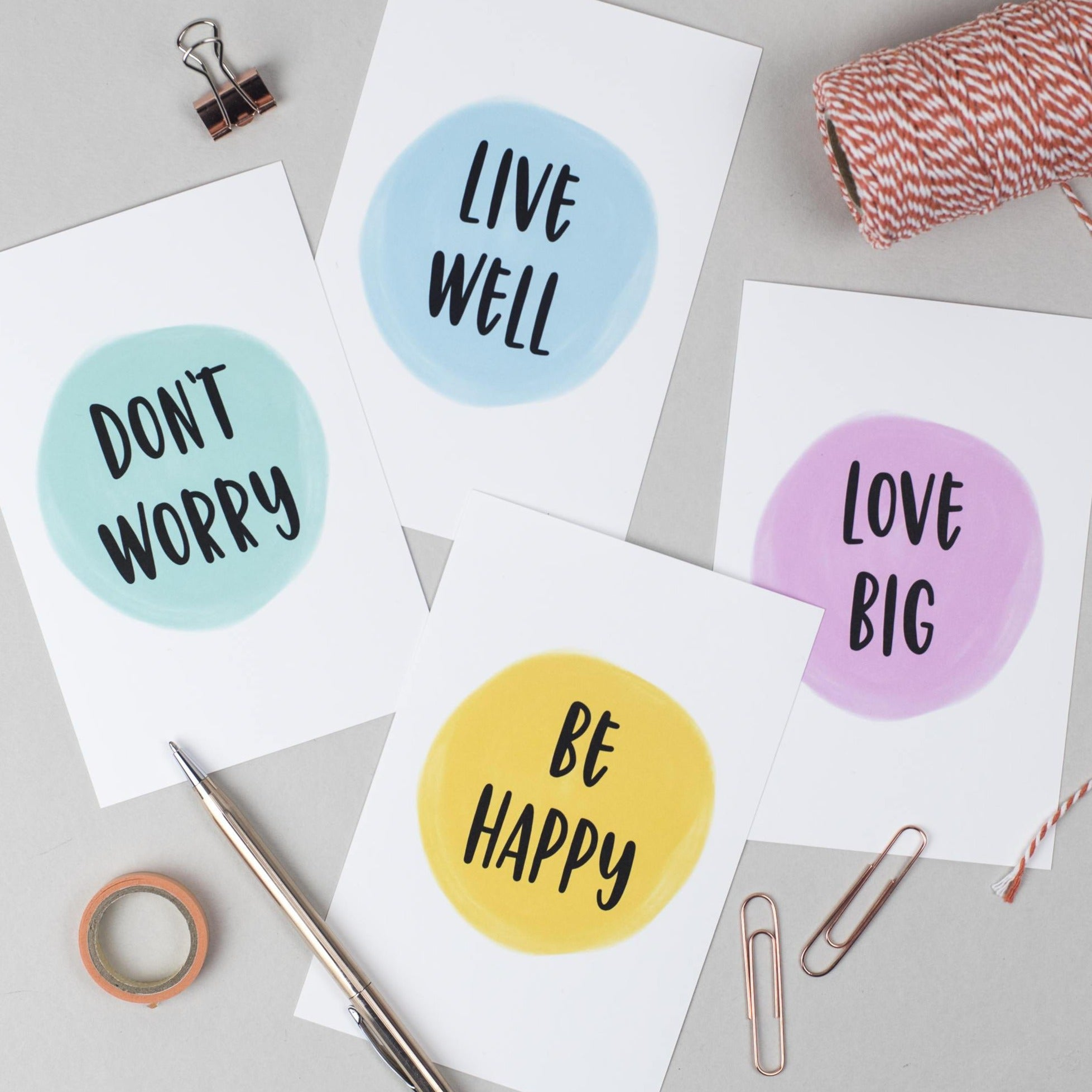 Motivational Postcards by Ginger Twenty Two