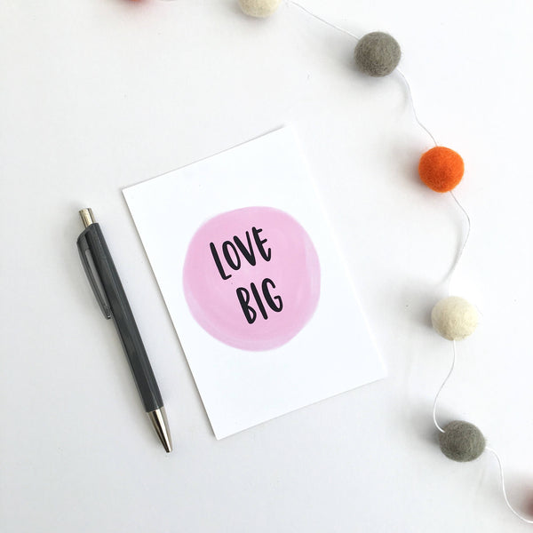 Love Big Postcard by Ginger Twenty Two