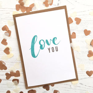 Love you card by Ginger Twenty Two