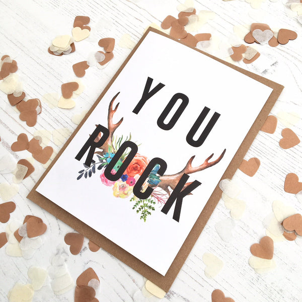 You Rock Card by Ginger Twenty Two