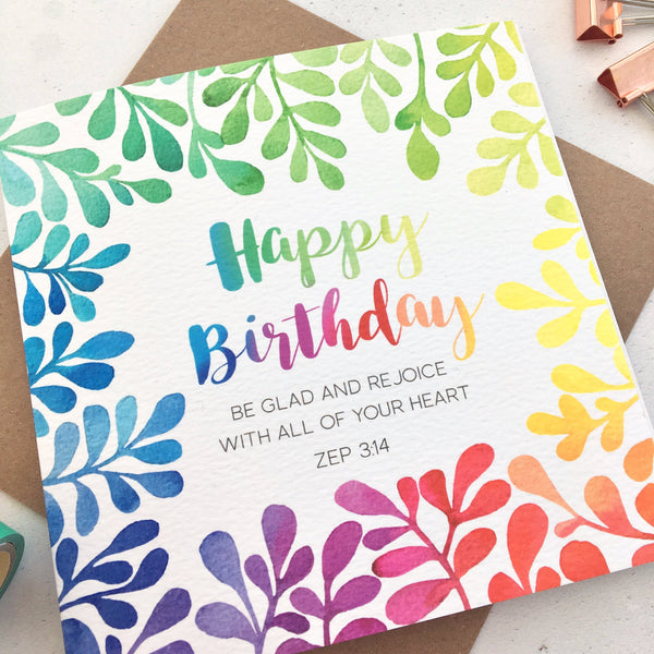 Birthday Card - Zep 3:14