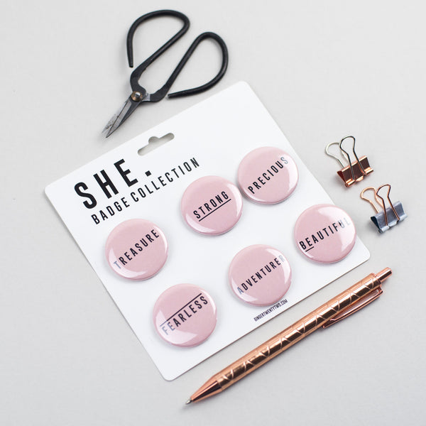 She Collection Badges by Ginger Twenty Two