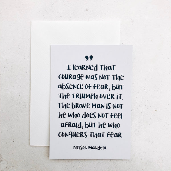 Courage Postcards - Set of 4