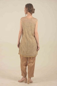 Golden sequined kurta set