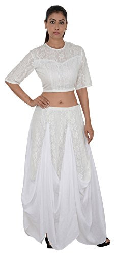 White Dhoti Blouse Set