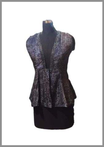 Plum shaded peplum top