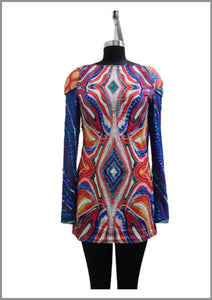 Psychedelic embroidered tunic