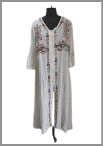 White embroidered tunic