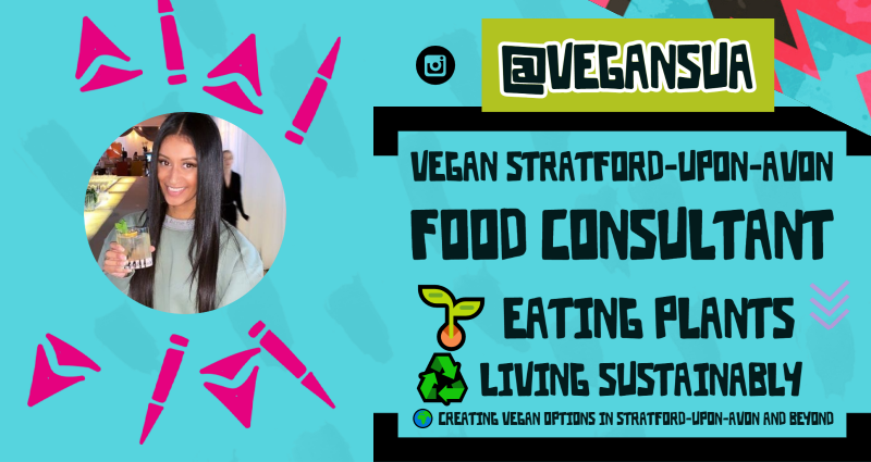vegansua is a Vegan from Stratford-upon-Avon. She is also a Food Consultant 🌱 eating plants⠀ ♻️ living sustainably⠀ 🌍 creating vegan options in Stratford-upon-Avon and beyond