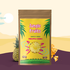 Gently Dried Pineapple Chunks - Jungle Fruits