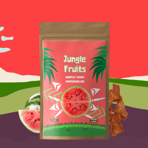 Gently Dried watermelon jerky - Jungle Fruits
