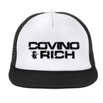 C&R White Front Black Mesh screen printed Hat