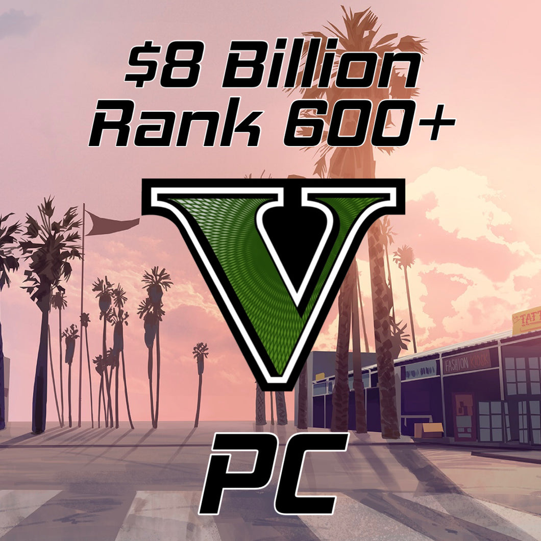 GTA 5 Modded Accounts $8 Billion Rank 400 (XBOX/PS4/PC)