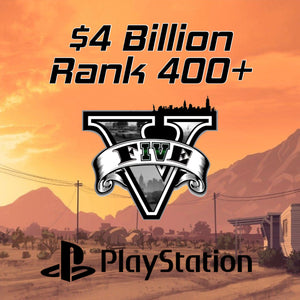 GTA 5 Modded Accounts $4 Billion Rank 400+ (PlayStation)