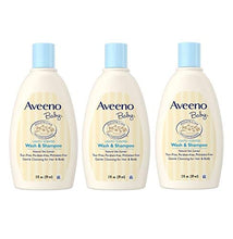 Load image into Gallery viewer, Aveeno Baby Wash & Shampoo, Tear Free, Travel Size 2 Oz (59ml) - Pack of 3