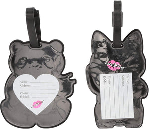 Betsey Johnson Duo Silicone Luggage Tags