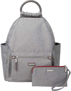 "Baggallini New Classic""Heritage"" All Day Backpack with RFID Phone Wristlet Stone One Size"