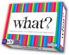 Load image into Gallery viewer, What? Party Game - Answer Silly Questions & Guess Who Said What - The Ultimate Laugh Out Loud Board Game (Features 288 Questions, Ages 18+)