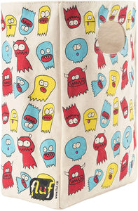 Fluf Canvas Lunch Bag | Lunch Box for Men, Women, & Kids | Organic Cotton Meal Tote with Built-In Handle | Jelly Ghosts