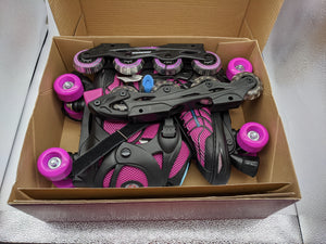 Schwinn Switcher Skates Girls 2-in-1 Quad and Inline Roller Skate Size 5-8 - NKC Deals